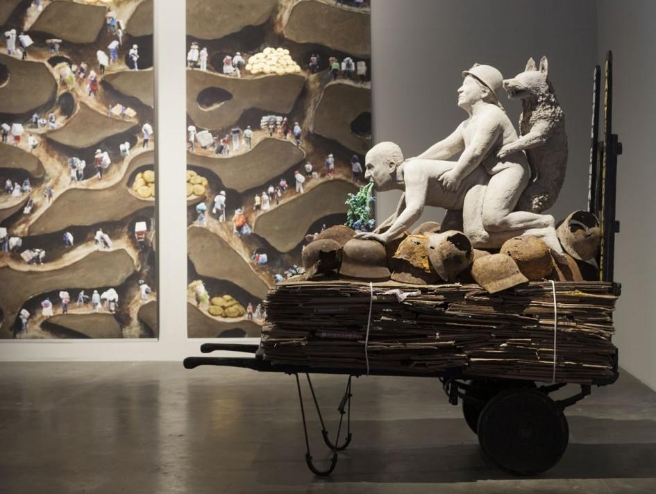 """Die zensurierte Skulptur """"Not Dressed for Conquering"""" der Künstlerin Ines Doujak  Foto: Doujak"""