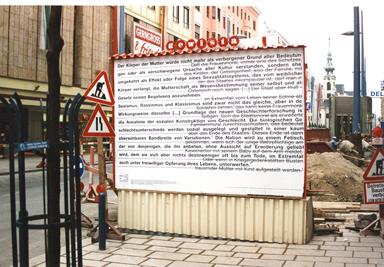 Die Arbeit Die Neue Rechte – Materialien für die Demontage der Künstler Martin Krenn und Oliver Ressler. Auch sie zählten zum künstlerischen Umfeld Zinggls. Für MUMOK-Kurator Michalka offensichtlich ein No-Go.