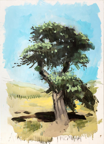 O.T. (Dahurische Lärche) aus der Serie Flora Sibirica, Öl auf Leinwand, 130x180cm, 2016, Privatsammlung, Foto: Alek Kawka