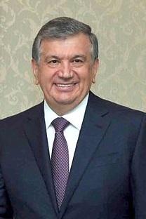 Der usbekische Präsidentschaftskandidat Shavkat Mirziyoyev