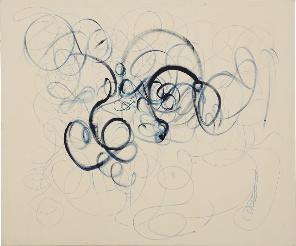 O.T. von Christian Rosa, 2011, Ölkreide, Öl, Bleistift und Kohle auf Leinwand, 200 x 240 cm  Foto: courtesy of Phillips /Phillips.com