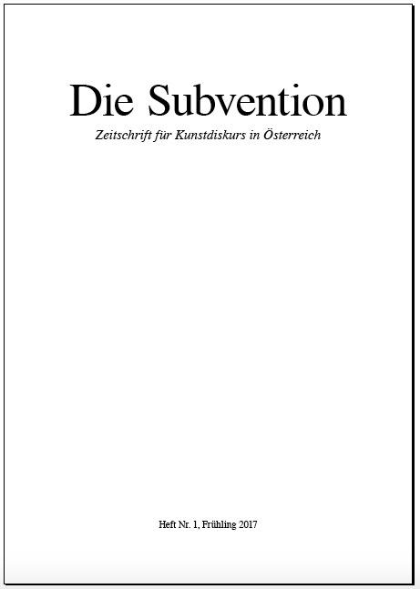die Subvention Nr 1