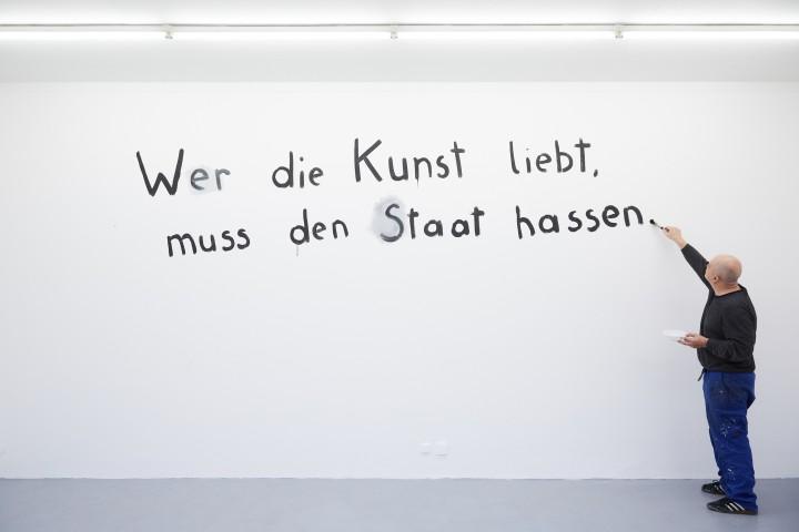 Wer die Kunst liebt, muss den Staat hassen. Ausstellungsaufbau, Non Government Art