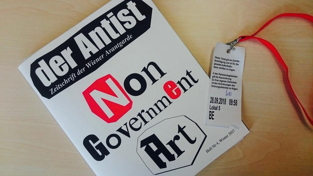 Der Antist ist die einzige nicht subventionierte Kunstzeitschrift Österreichs. In einer außerordentlichen parlamentarischen Sitzung des Kulturausschusses wurde Antist-Herausgeber Lukas Pusch jetzt um seine Expertise zur österreichischen Kunst- und Kulturförderung gebeten.